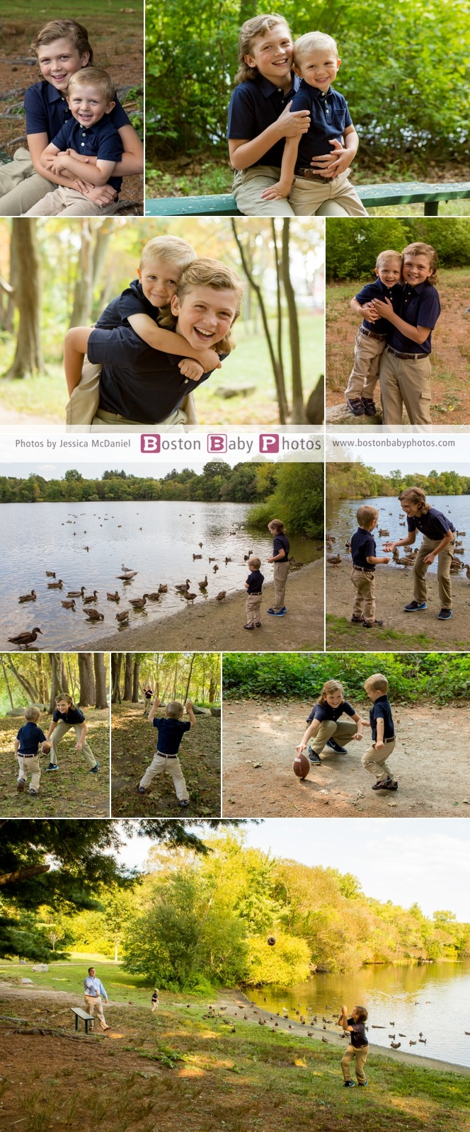 Turners Pond Family Session Boston Baby Photos