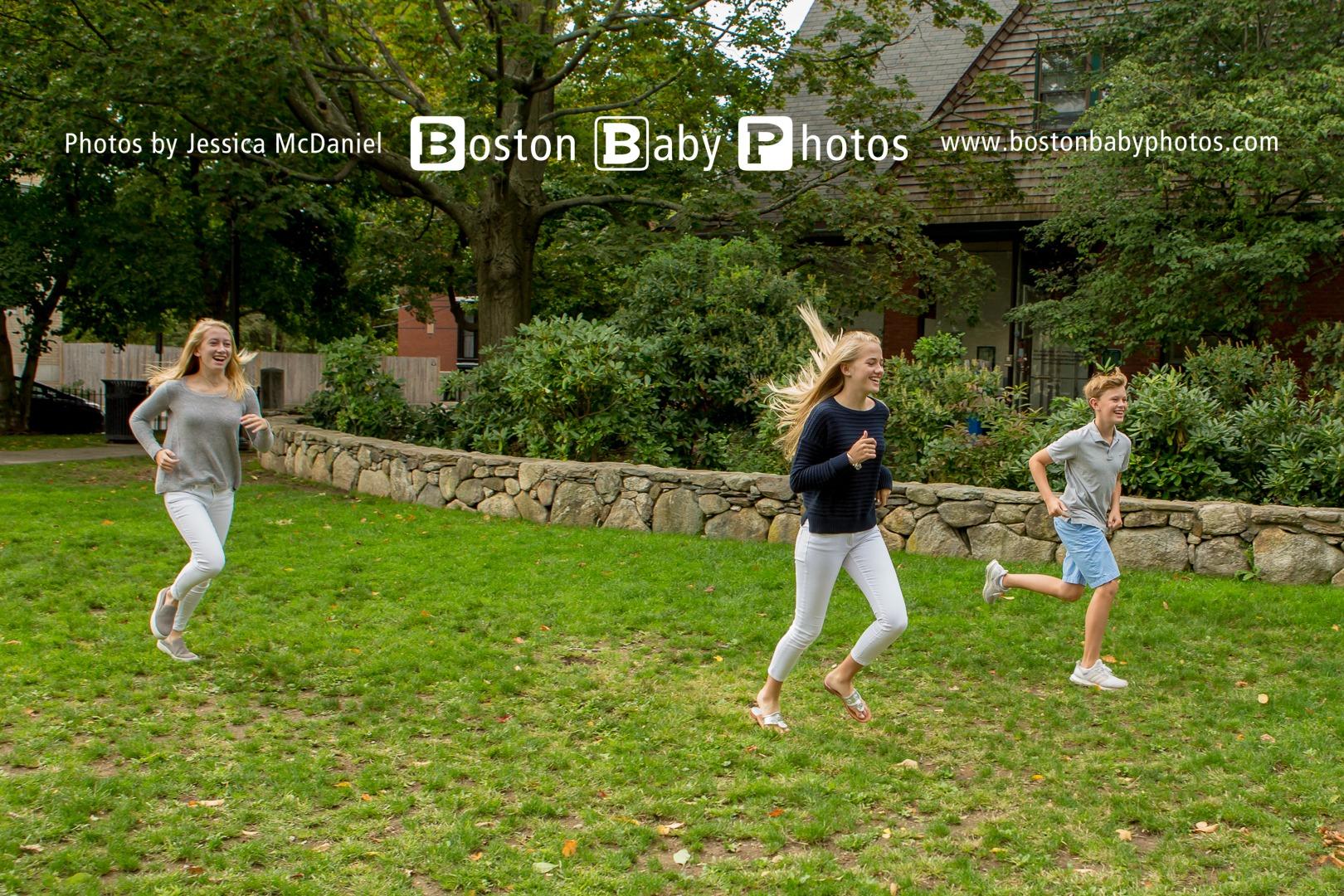 Brookline Teenager Photoshoot - Older kids have fun too