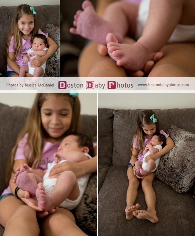 West Roxbury Newborn Family Photoshoot Boston Baby Photos