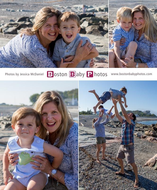 cohasset beach family photoshoot boston baby photos