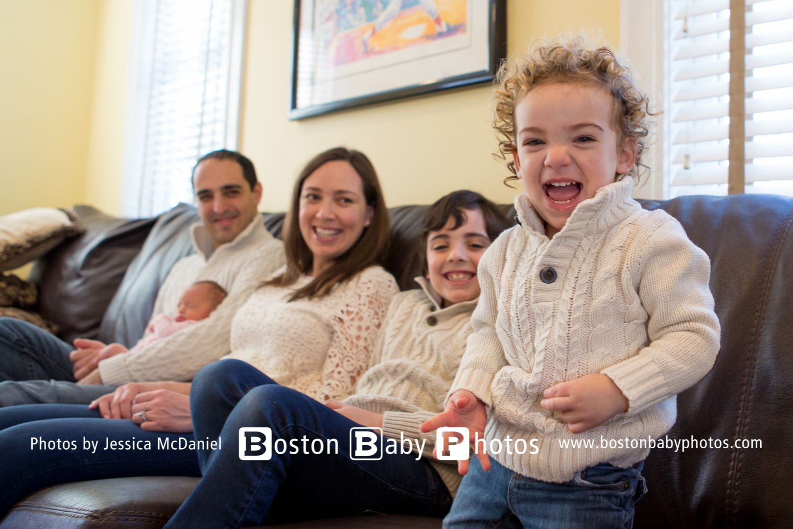 Belmont, MA Lifestyle Newborn Session - Number three for these guys