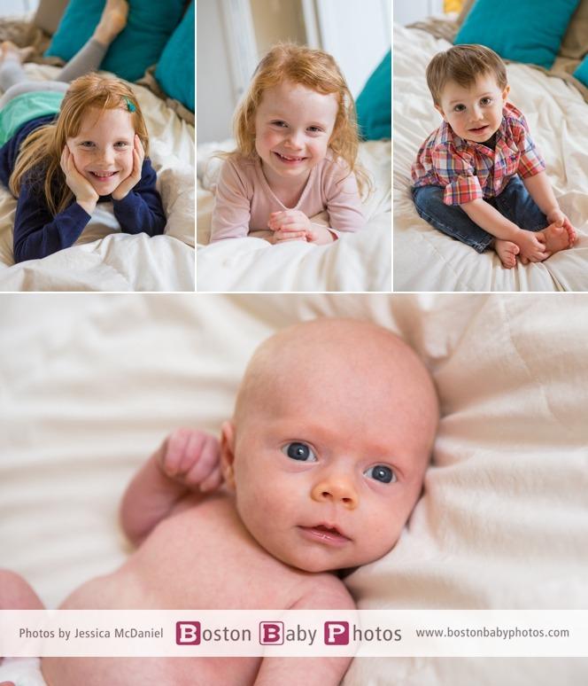 fun family newborn photoshoot