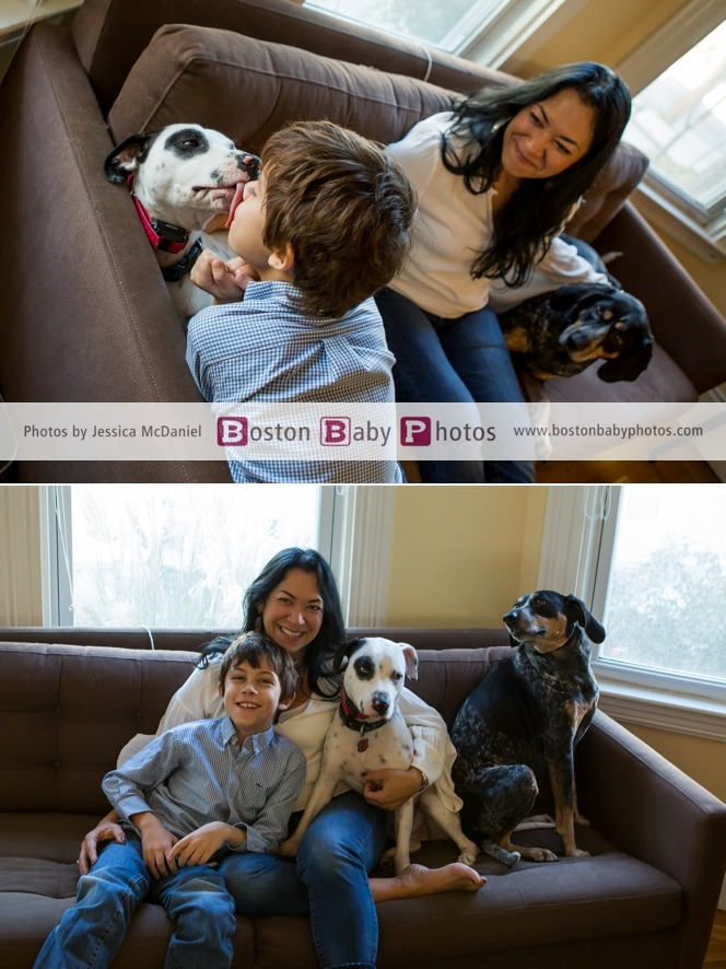family dog photoshoot