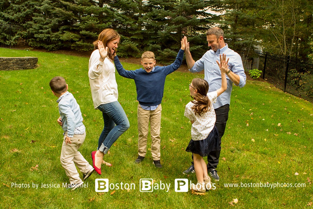 North Andover MA - Back yard photoshoot fun