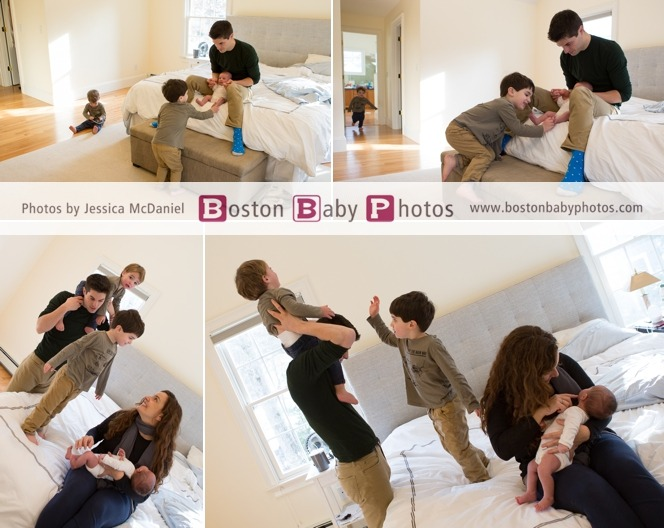 Needham MA Newborn Lifestyle Photo Session