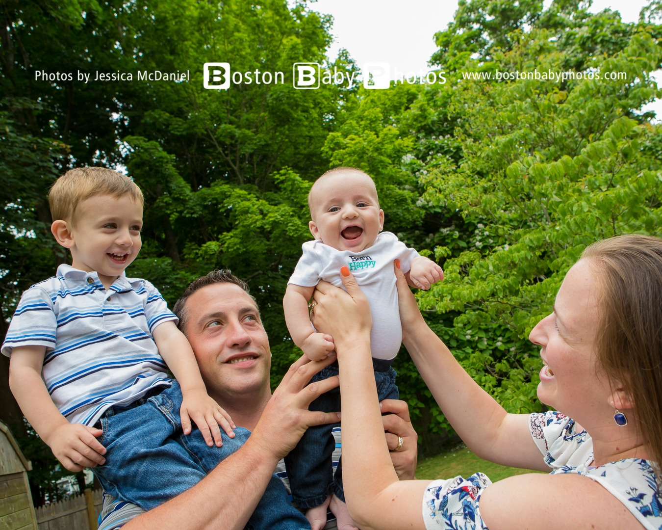 Rockland, MA: Big family + newborn photoshoot