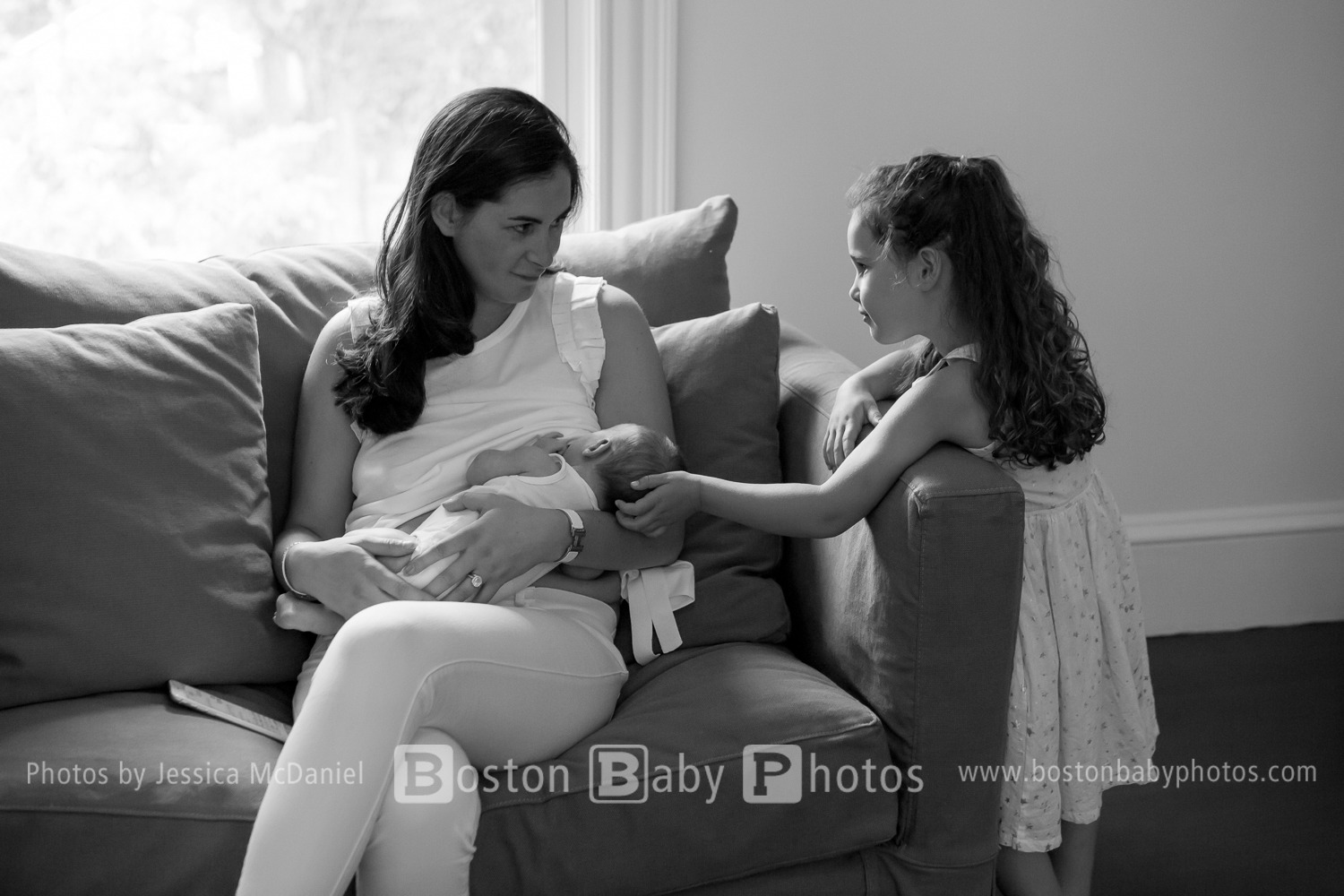 Newton, MA: A new baby boy joins the little ladies