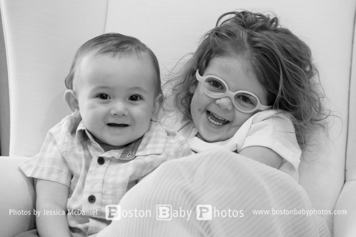 South End, Boston: First birthday with his big sister