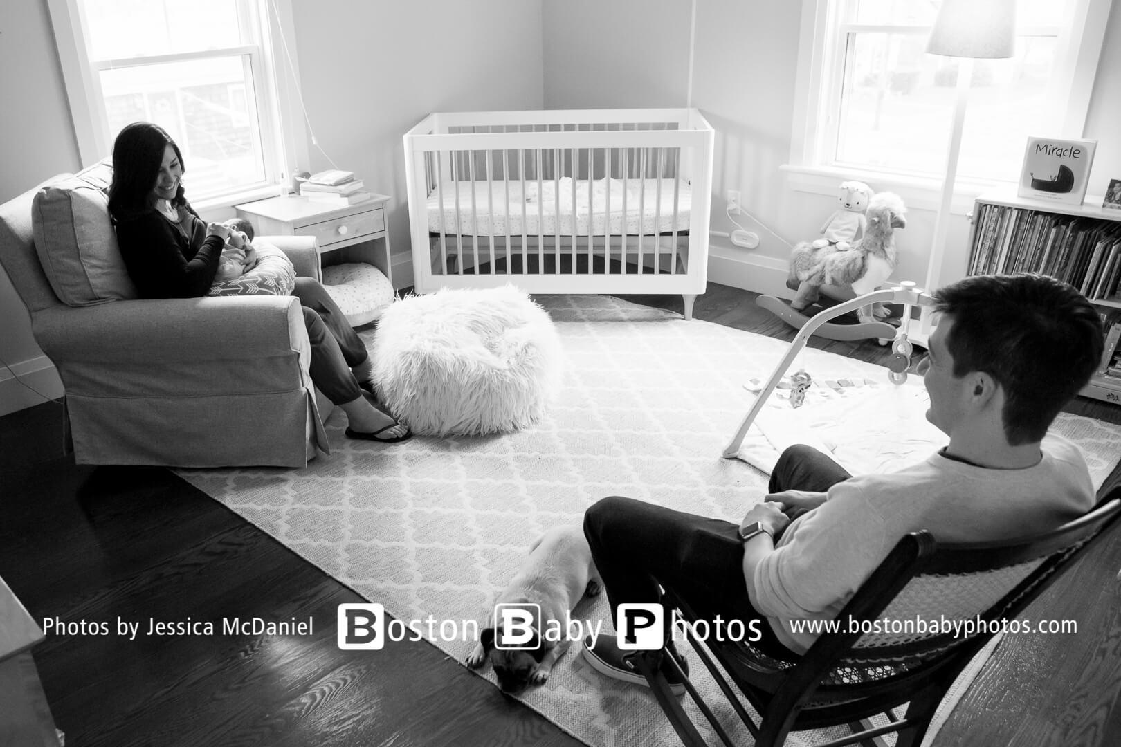 Milton, MA: A sweet new baby girl photoshoot