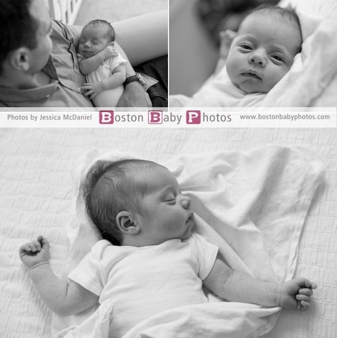 four week old photoshoot
