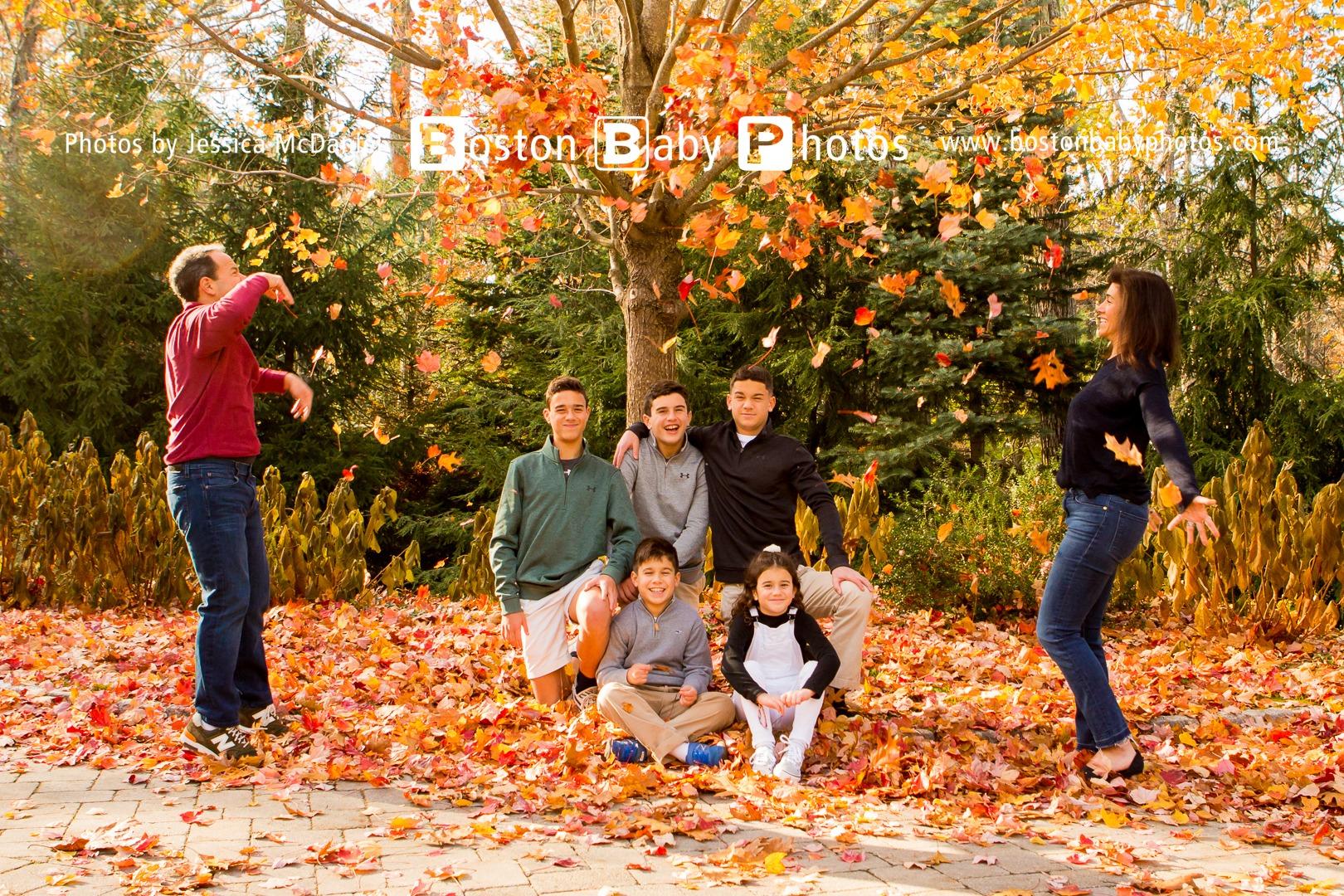 Weston, MA: An older kids photoshoot with five kids