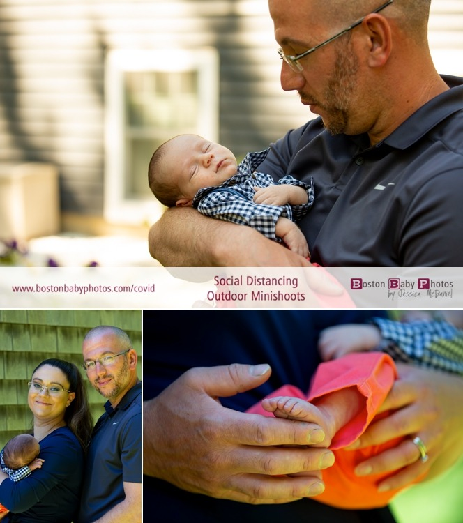 Social Distancing Newborn Outdoor Minishoot