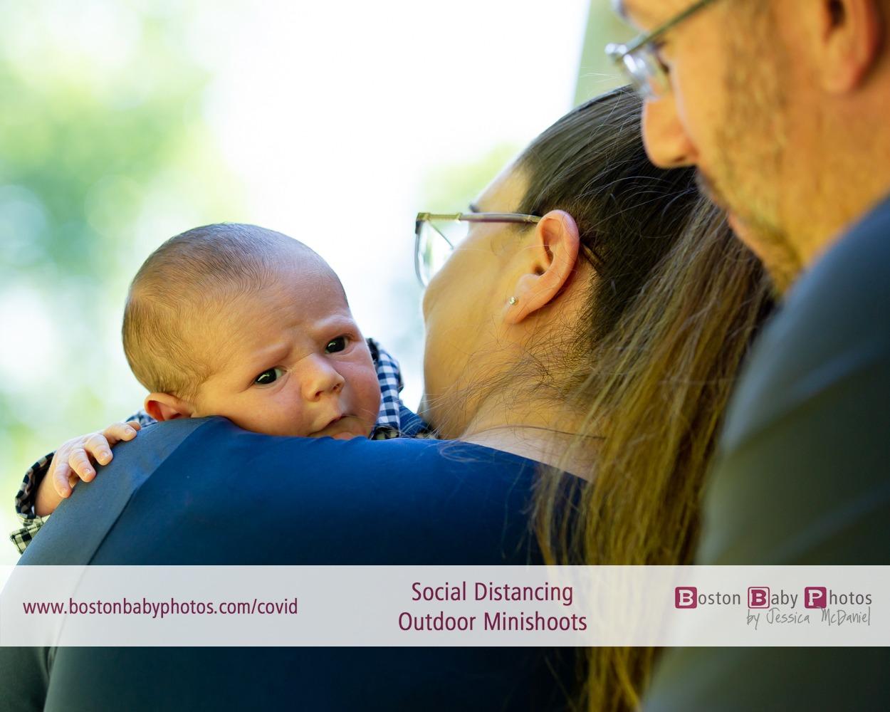 Bridgewater, MA: Social Distancing Newborn Outdoor Minishoot