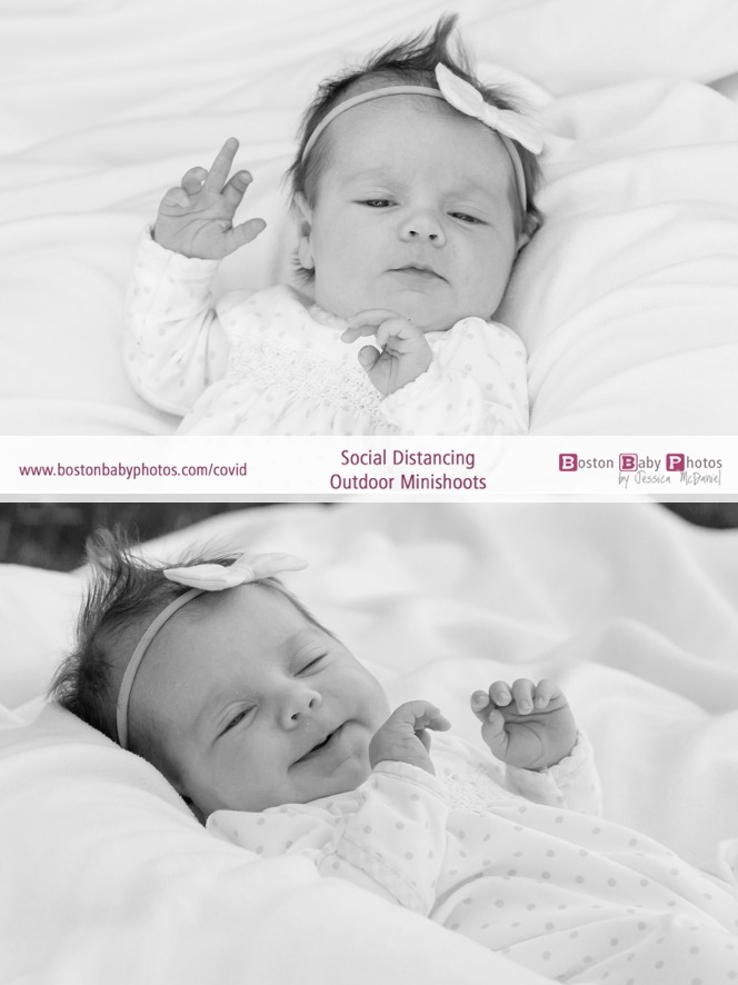 social distancing outdoor newborn photoshoot