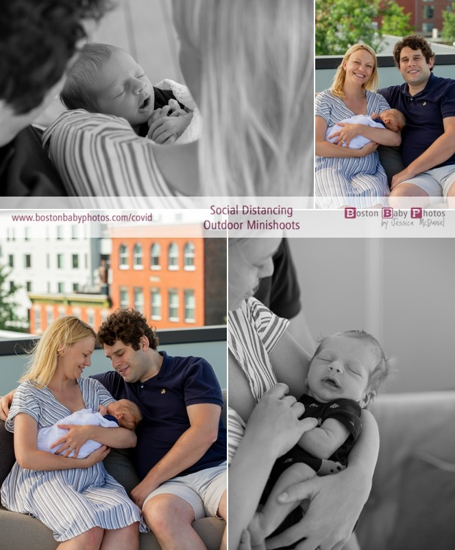 social distancing roofdeck newborn minishoot
