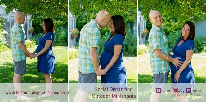 social distancing maternity photos