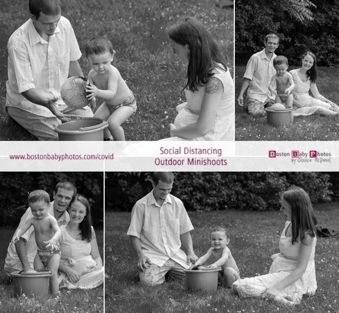 Social Distancing Maternity Photos with big brother