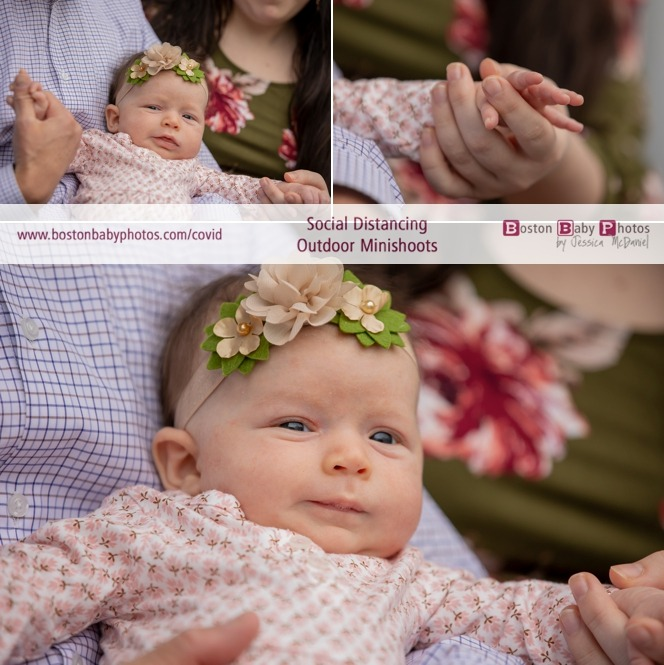 social distancing outdoor baby photoshoot