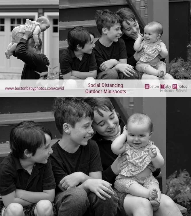 four kids social distancing outdoor minishoot