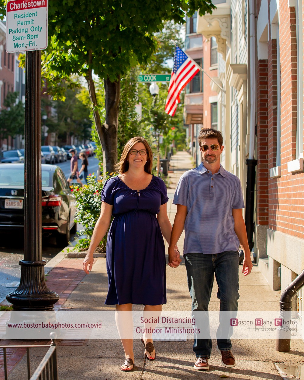 Charlestown, MA - Maternity photos and a social distancing walk