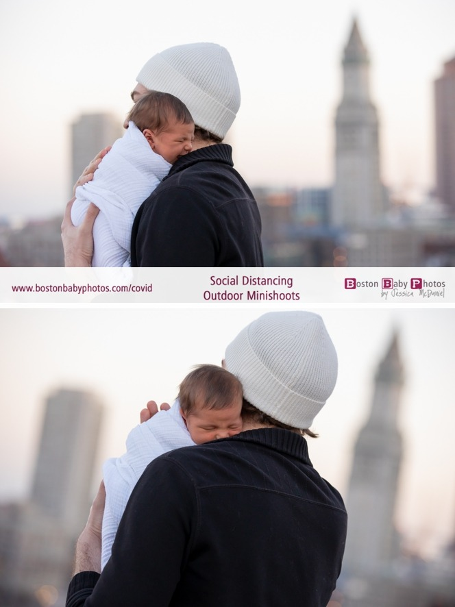 roofdeck newborn photoshoot