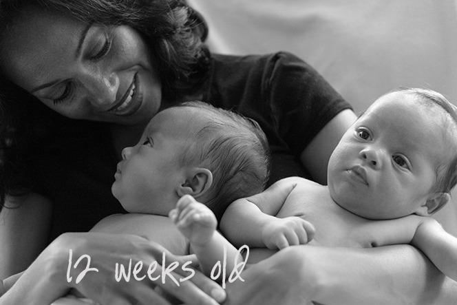 12 week old twins