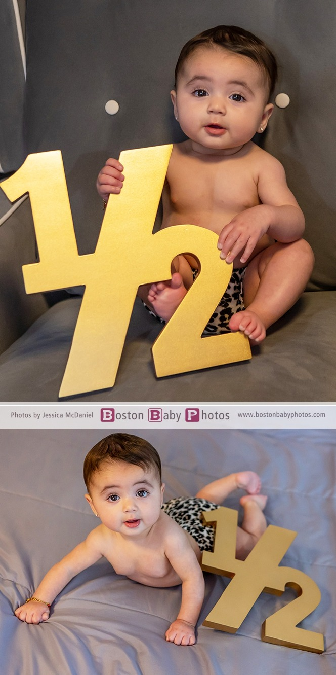 six month photoshoot at home